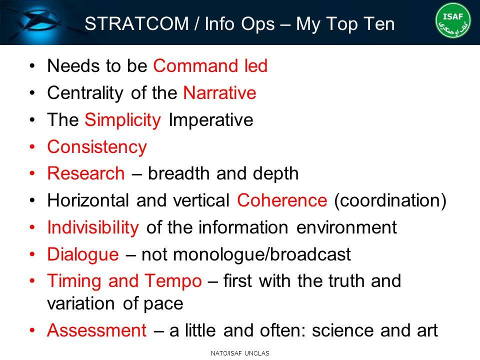 STRATCOM / Info Ops – My Top Ten
