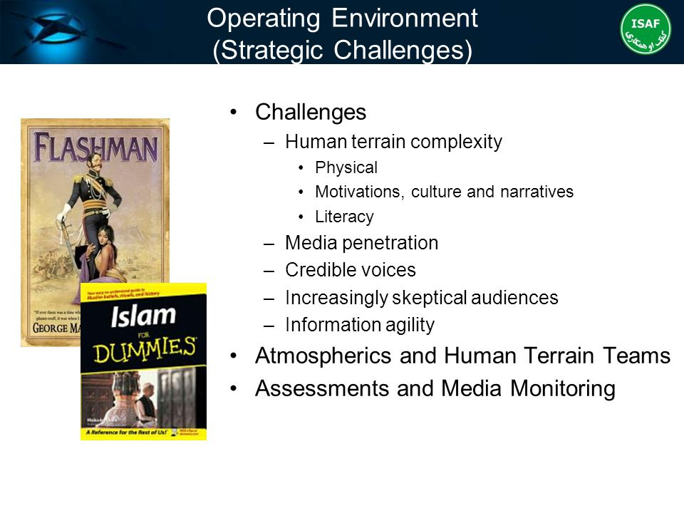 Operating Environment (Strategic Challenges)