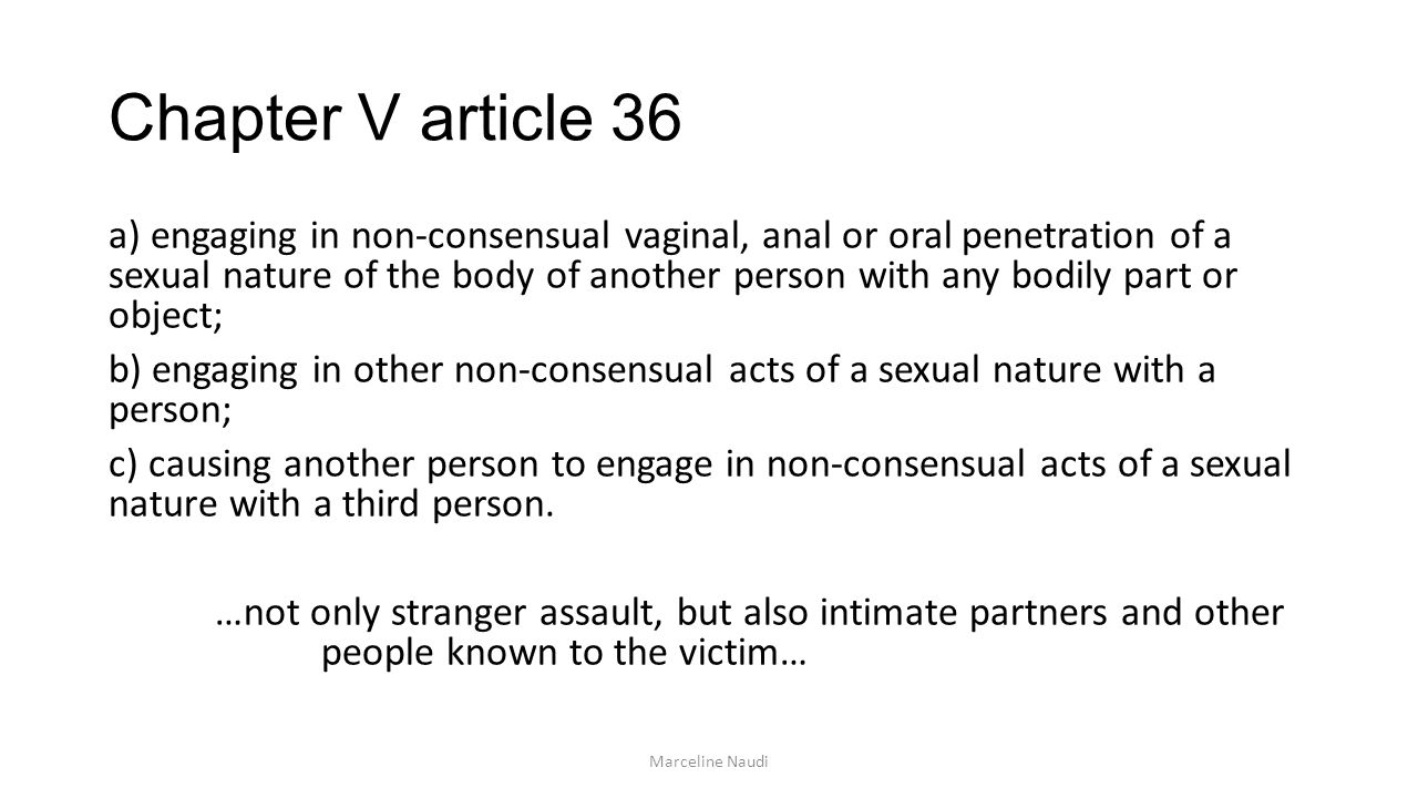 Chapter V article 36