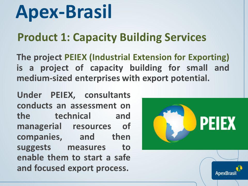 Apex-Brasil Product 1: Capacity Building Services