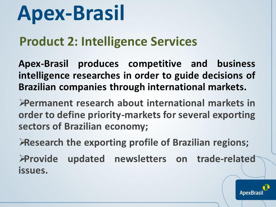Apex-Brasil Product 2: Intelligence Services
