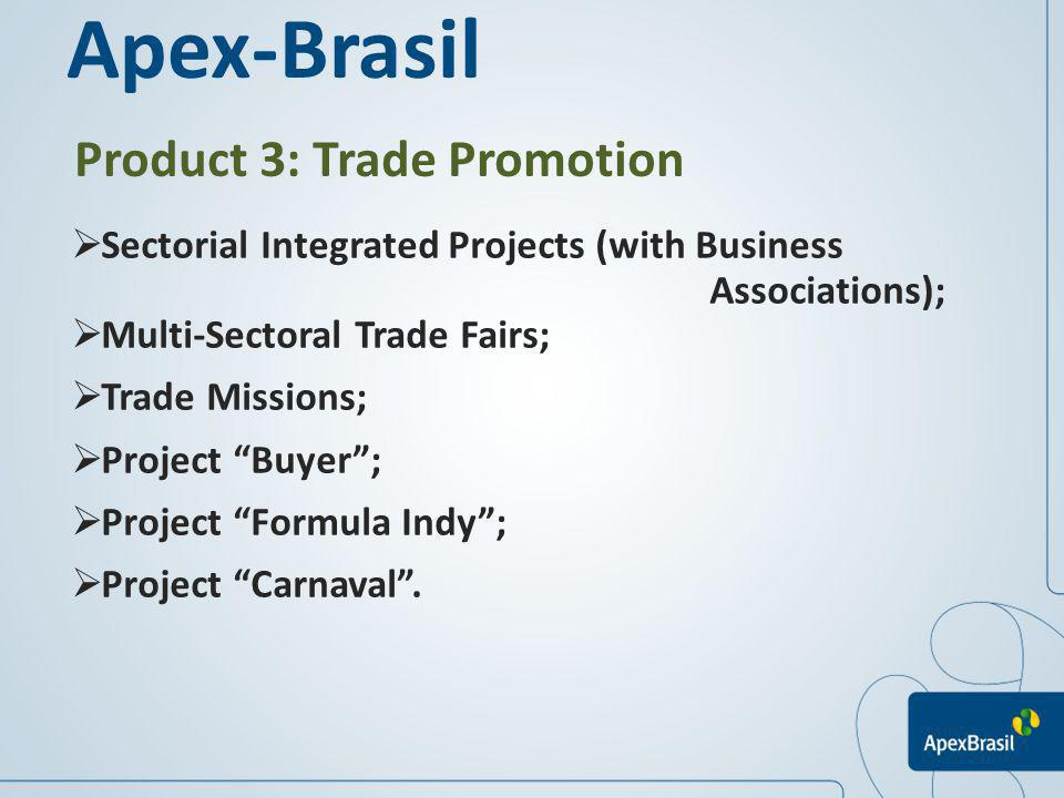 Apex-Brasil Product 3: Trade Promotion