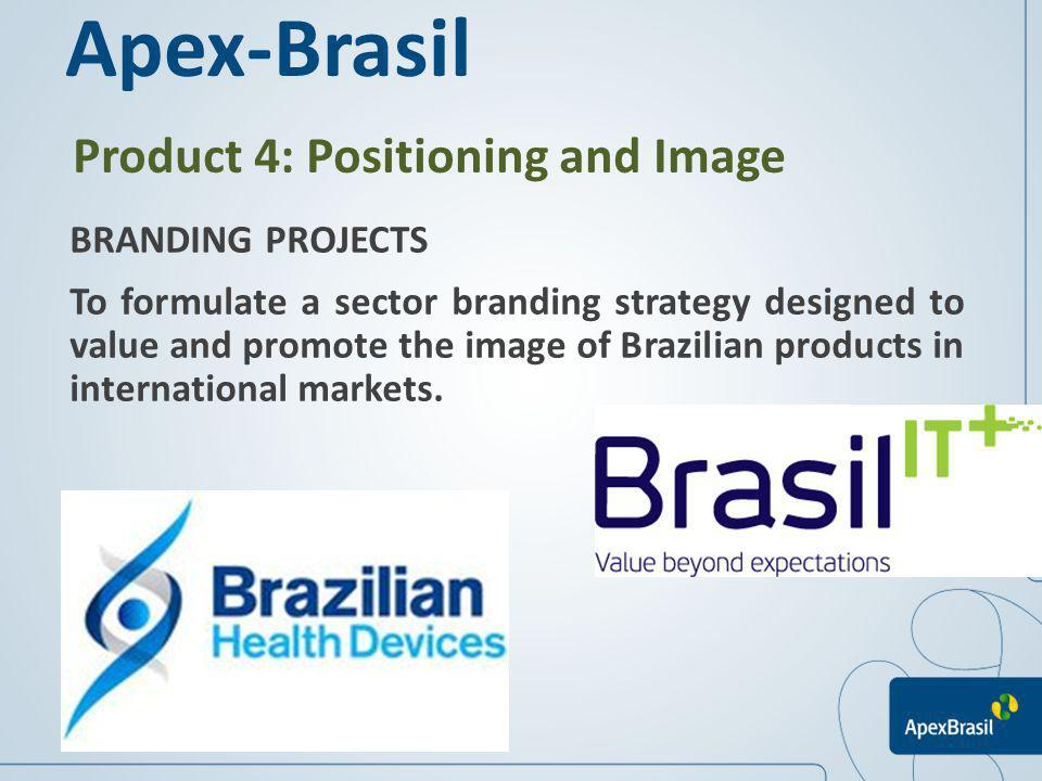 Apex-Brasil Product 4: Positioning and Image BRANDING PROJECTS
