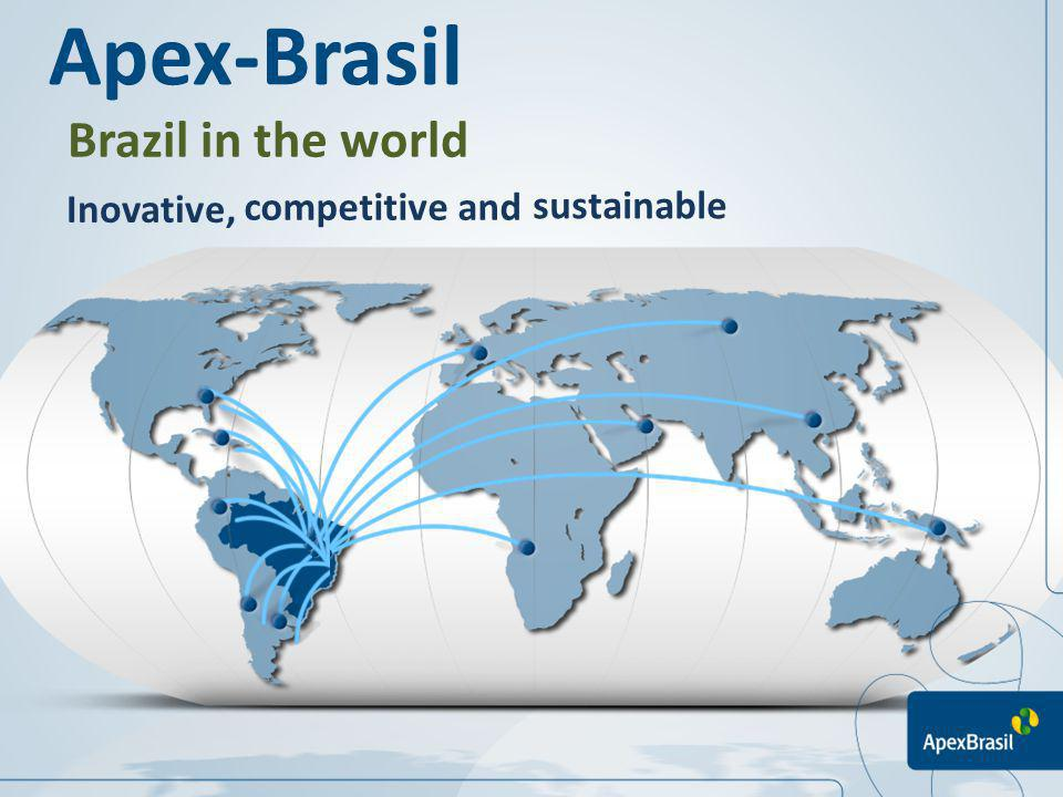 Apex-Brasil Brazil in the world Inovative, competitive and sustainable