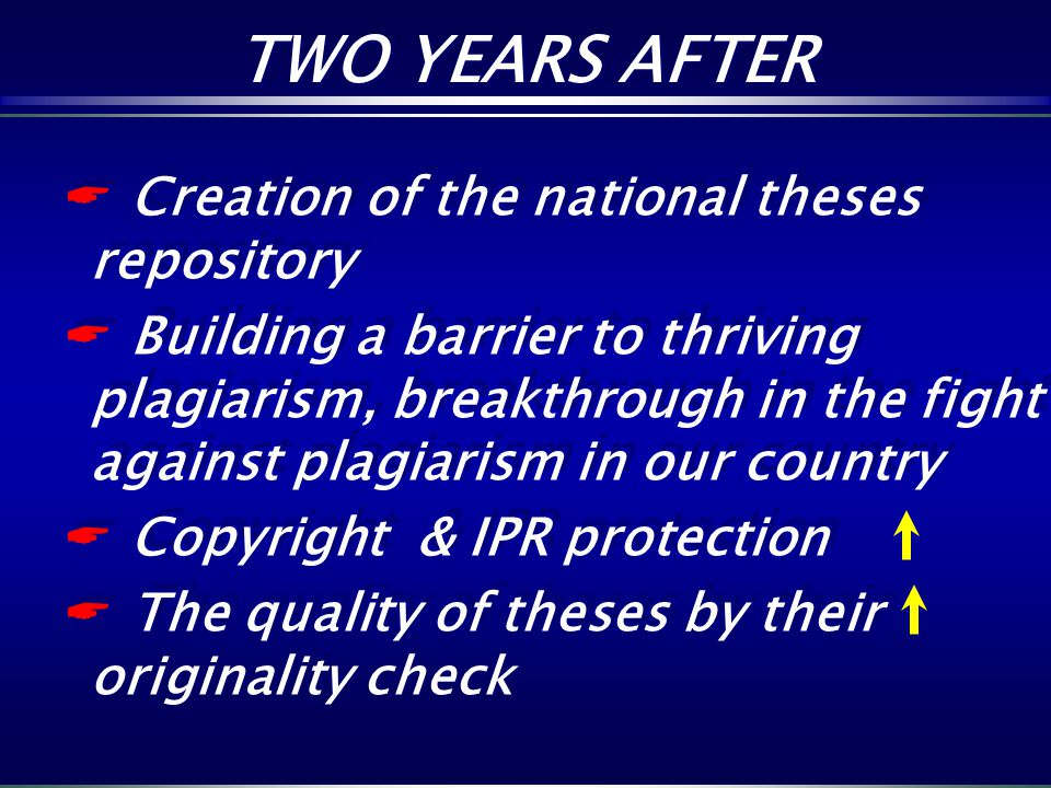 TWO YEARS AFTER Creation of the national theses repository