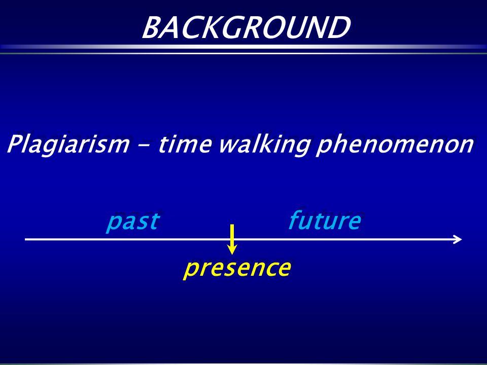 BACKGROUND Plagiarism - time walking phenomenon past future presence