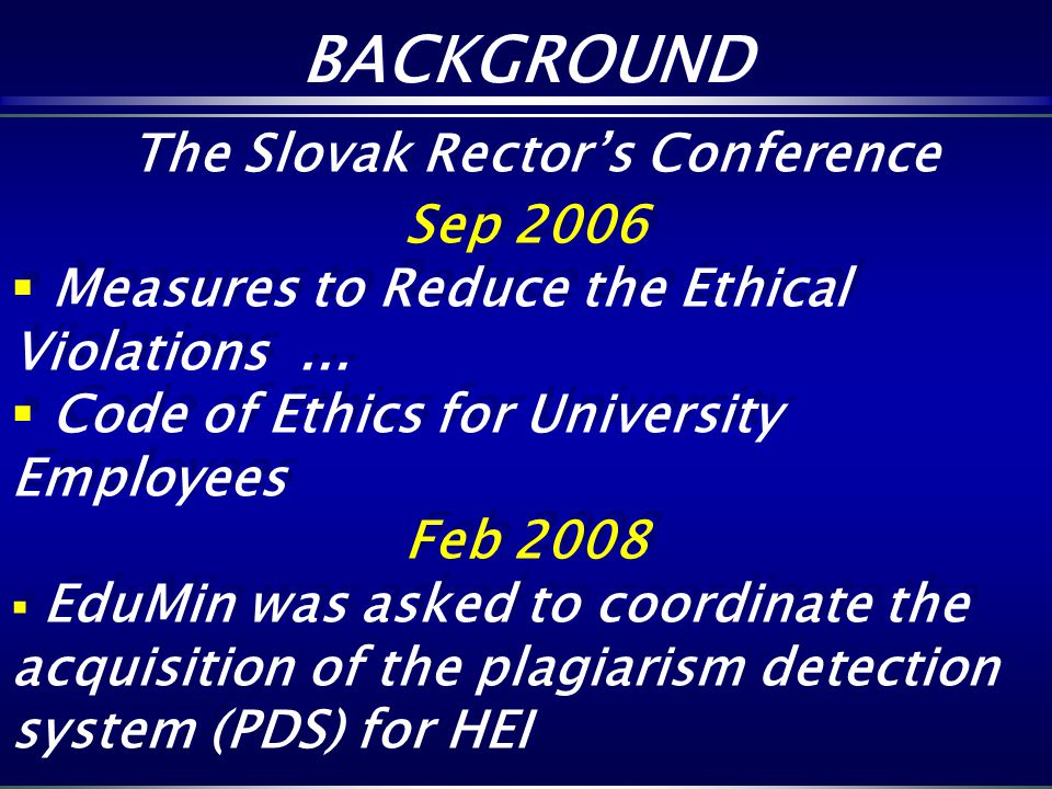 The Slovak Rector's Conference