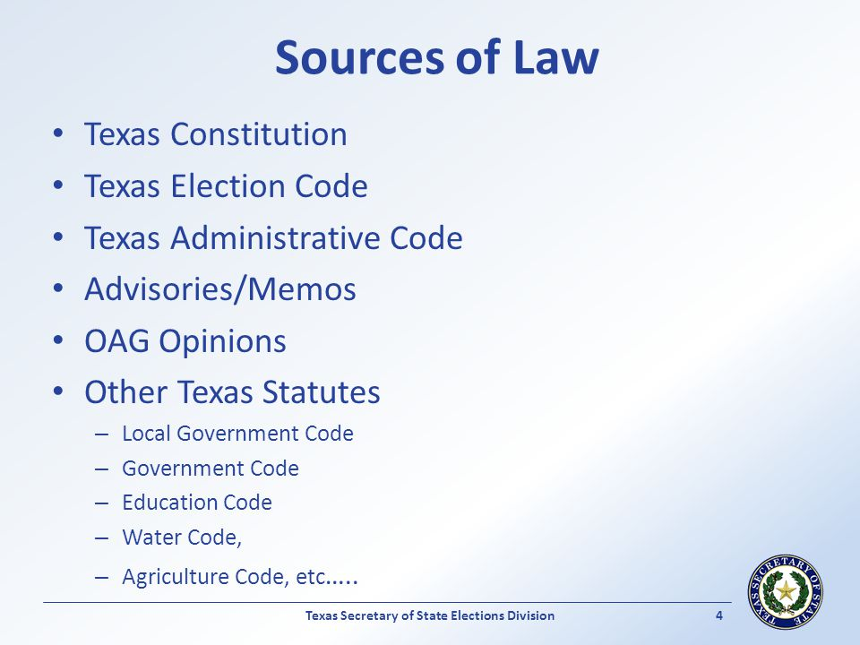 Texas Secretary of State Elections Division