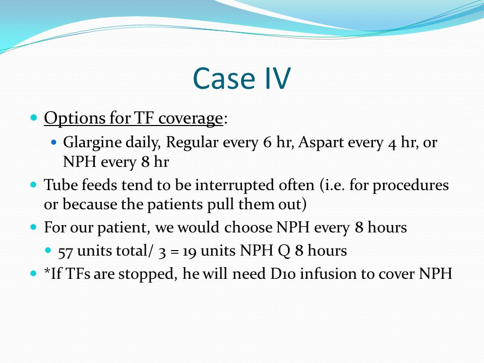 Case IV Options for TF coverage: