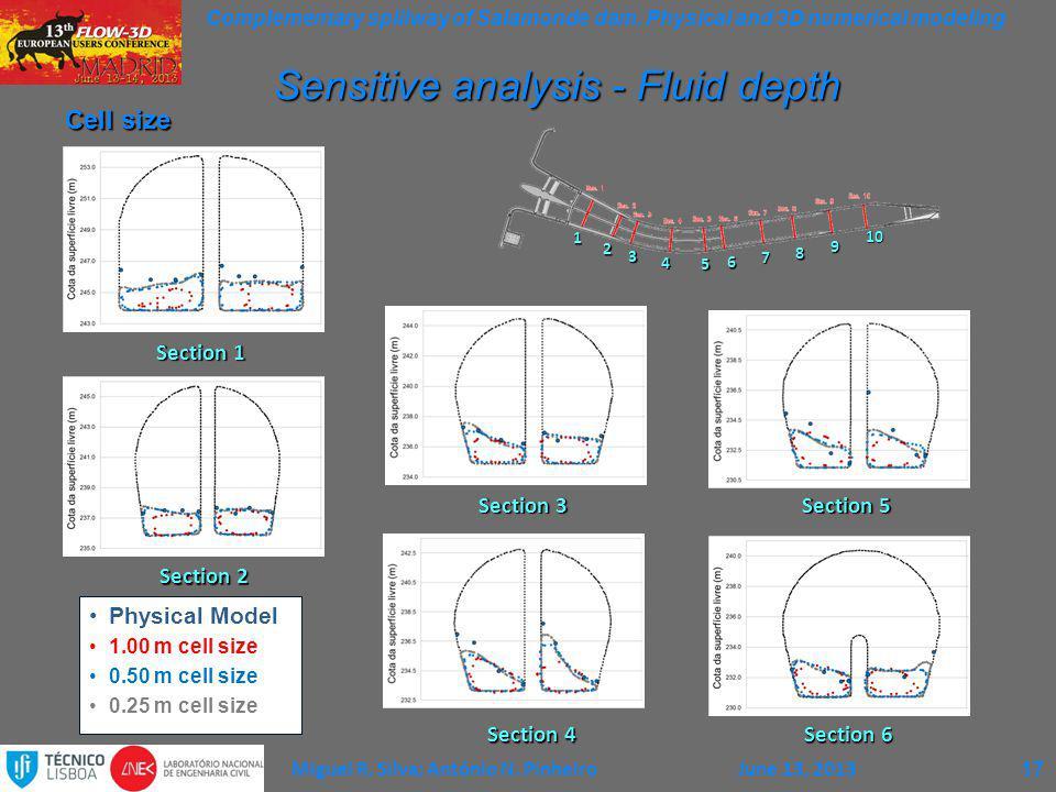 Sensitive analysis - Fluid depth