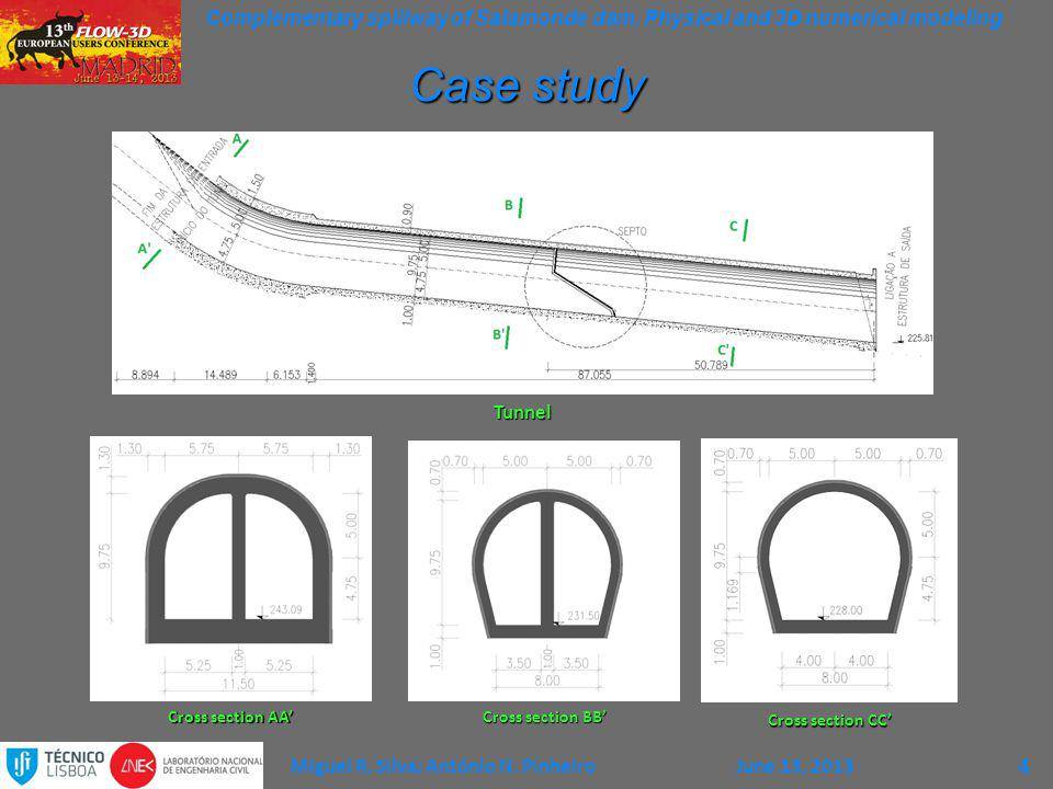 Case study Tunnel 4 Cross section AA' Cross section BB'