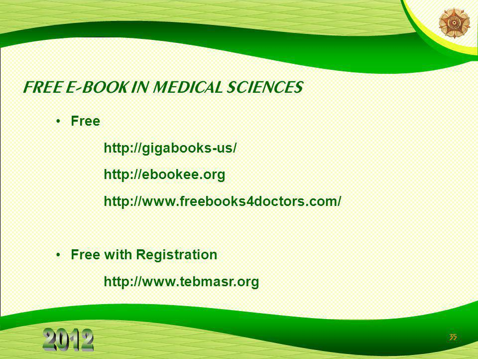FREE E-BOOK IN MEDICAL SCIENCES