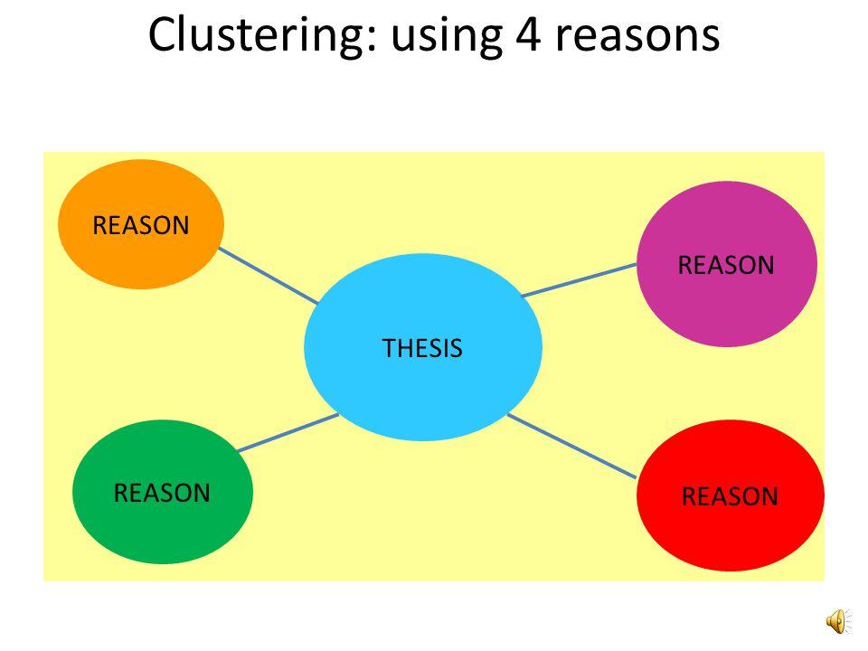 Clustering: using 4 reasons