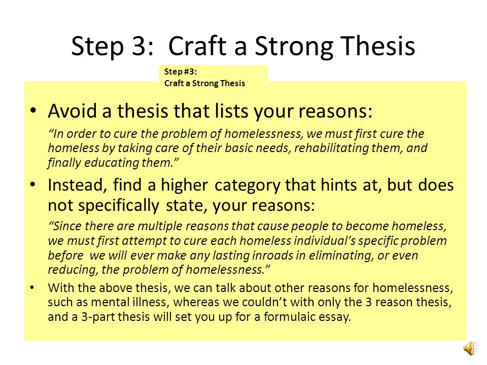 Step 3: Craft a Strong Thesis
