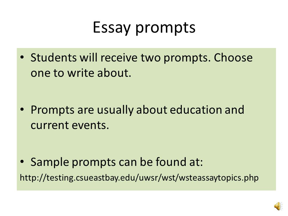 essay prompts list