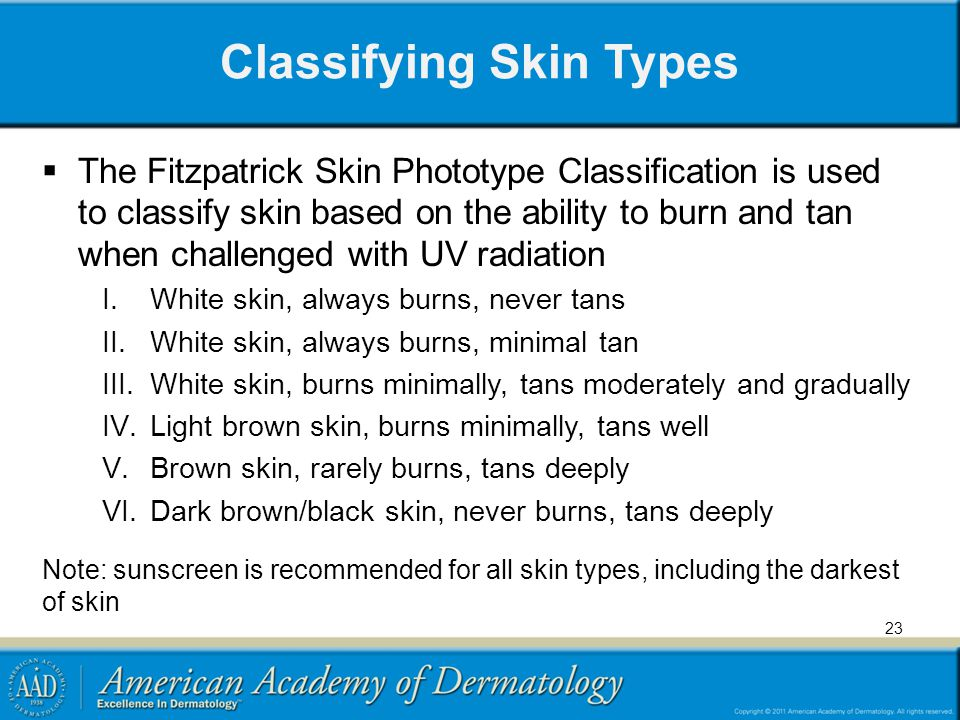 Classifying Skin Types