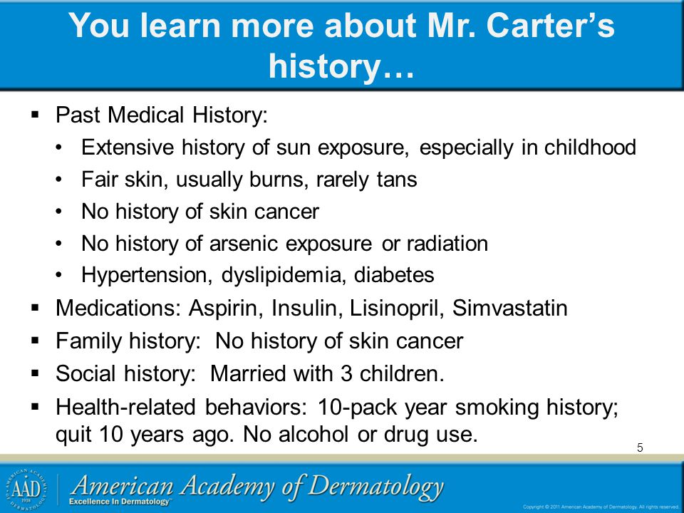 You learn more about Mr. Carter's history…