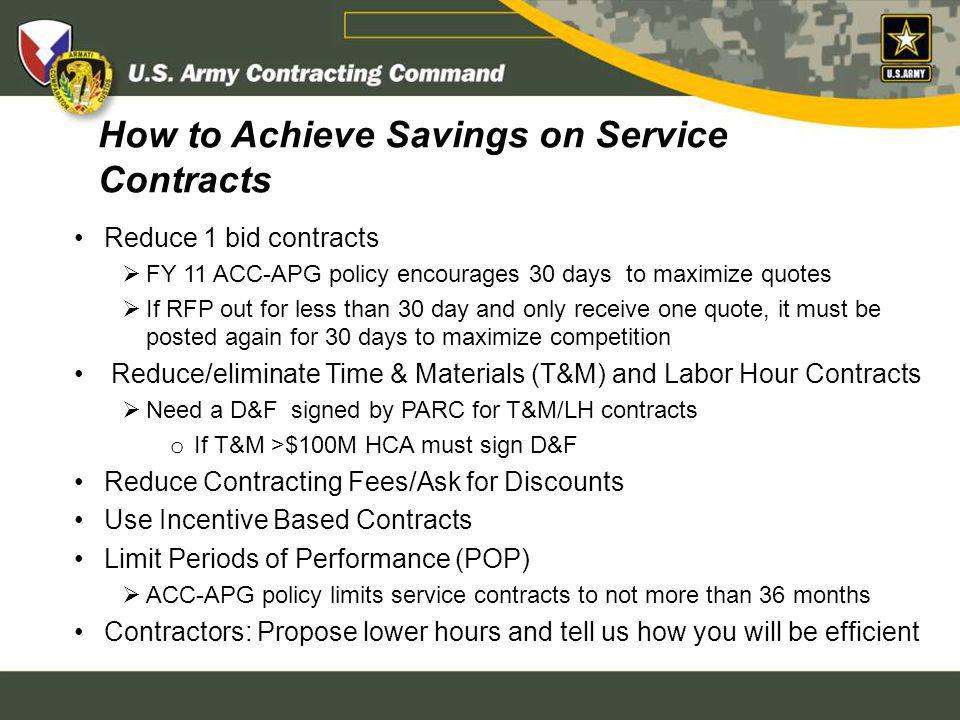 How to Achieve Savings on Service Contracts