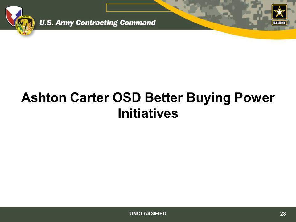 Ashton Carter OSD Better Buying Power Initiatives