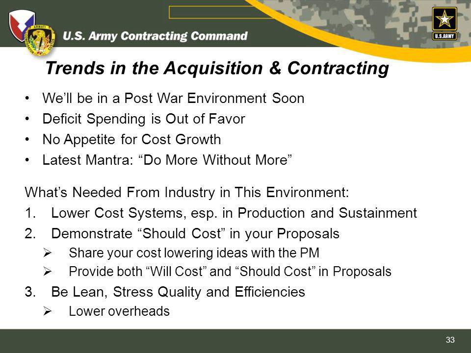 Trends in the Acquisition & Contracting