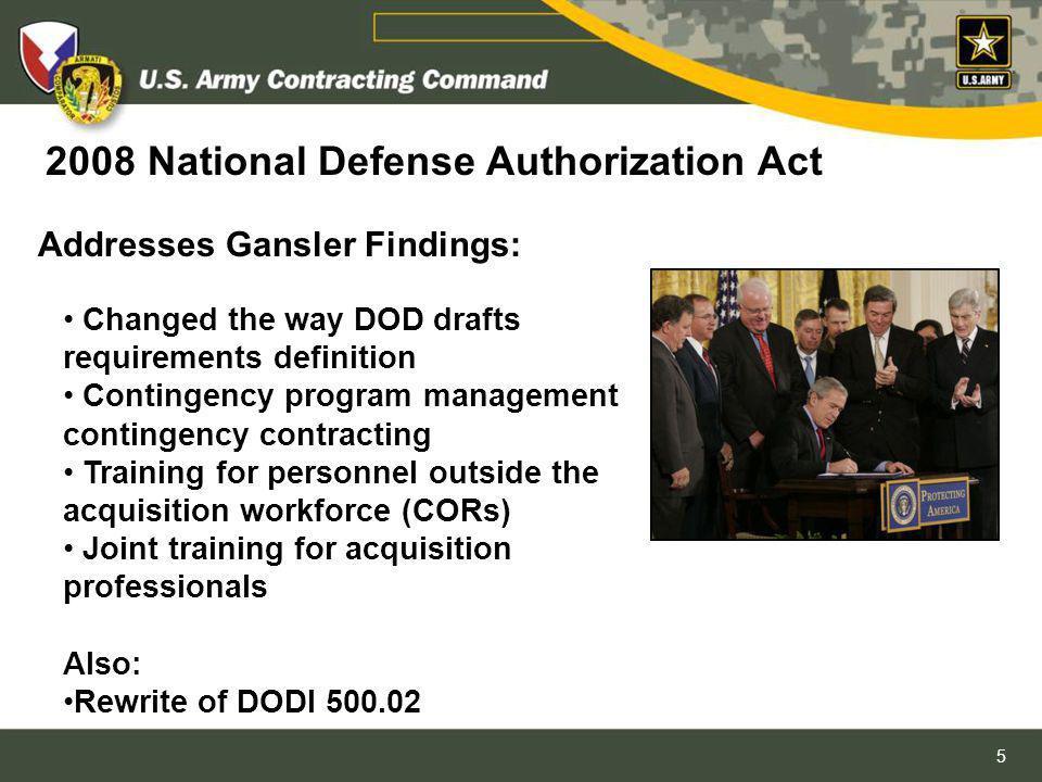 2008 National Defense Authorization Act