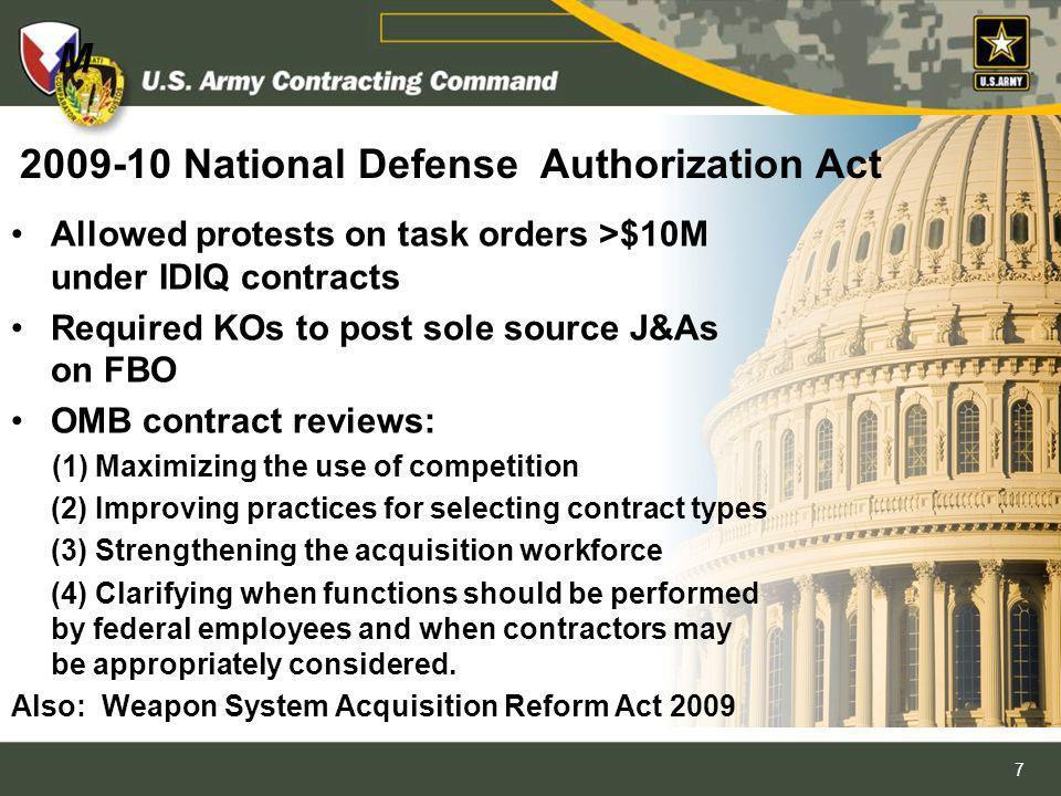 2009-10 National Defense Authorization Act