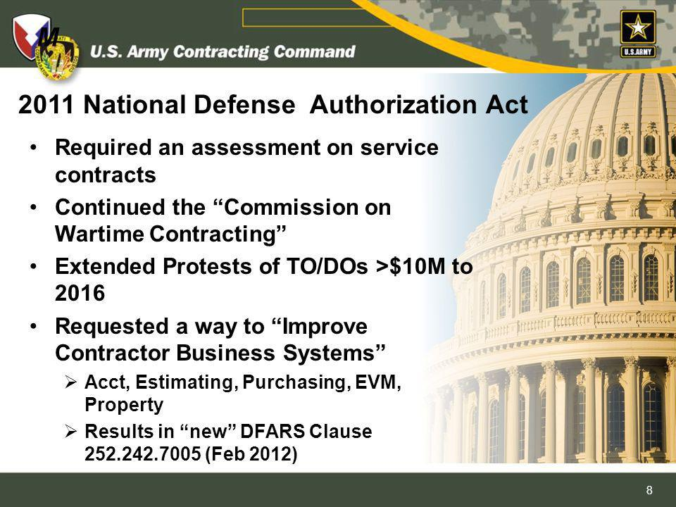 2011 National Defense Authorization Act