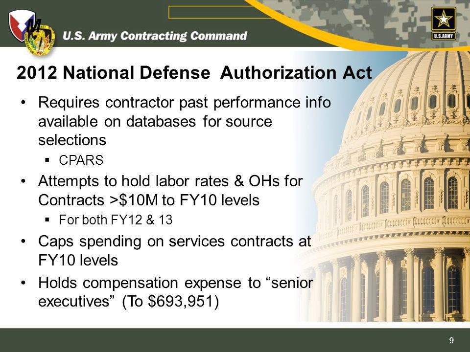 2012 National Defense Authorization Act