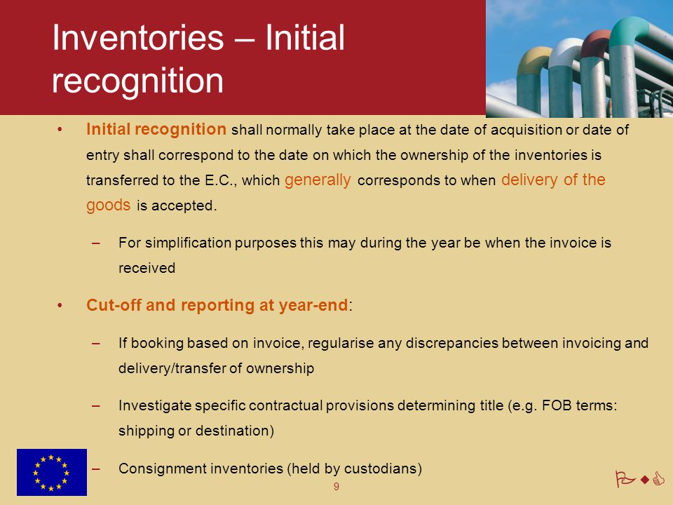 Inventories – Initial recognition