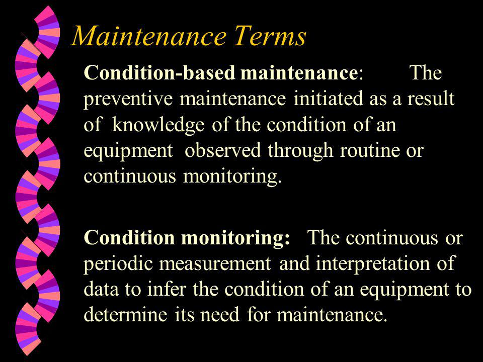 Maintenance Terms