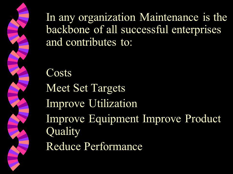 Improve Equipment Improve Product Quality Reduce Performance