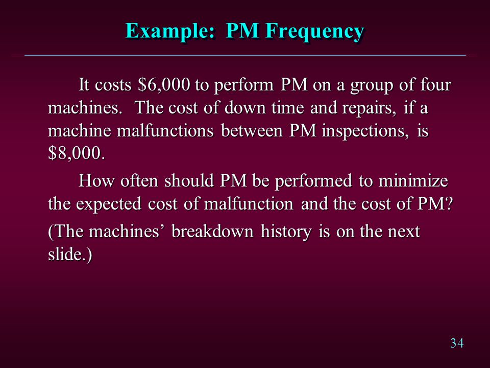 Example: PM Frequency