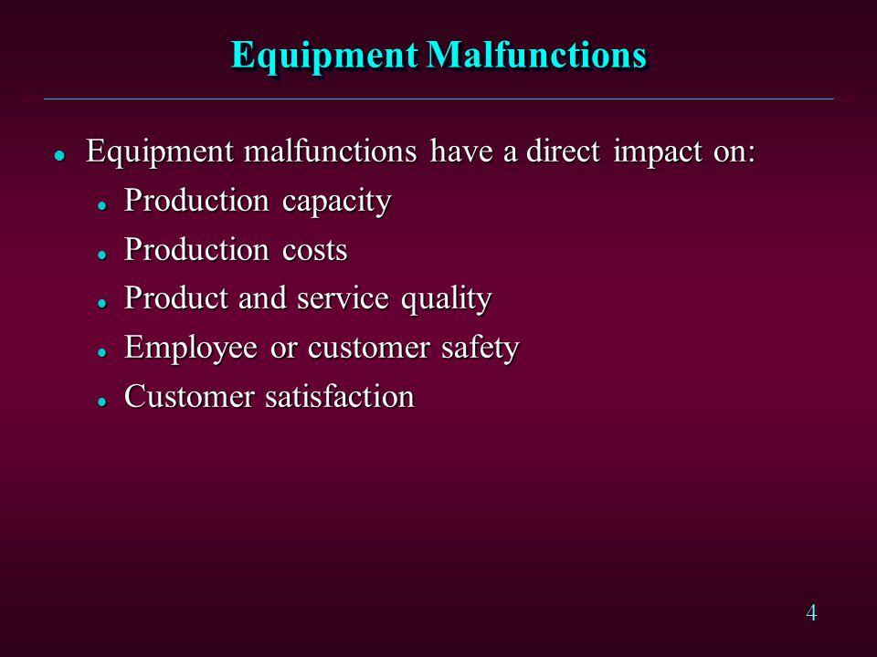Equipment Malfunctions