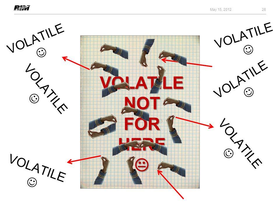 VOLATILE NOT FOR HERE  VOLATILE  VOLATILE  VOLATILE  VOLATILE 
