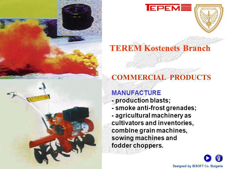 TEREM Kostenets Branch Designed by BiSOFT Co. Bulgaria