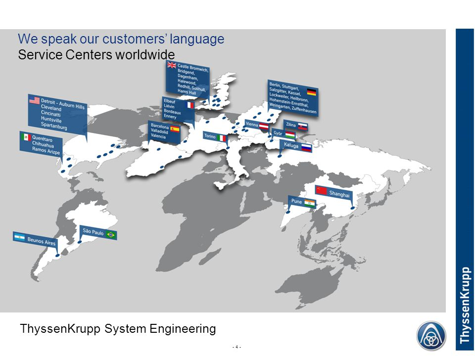 We speak our customers' language