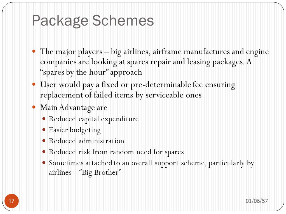 Package Schemes
