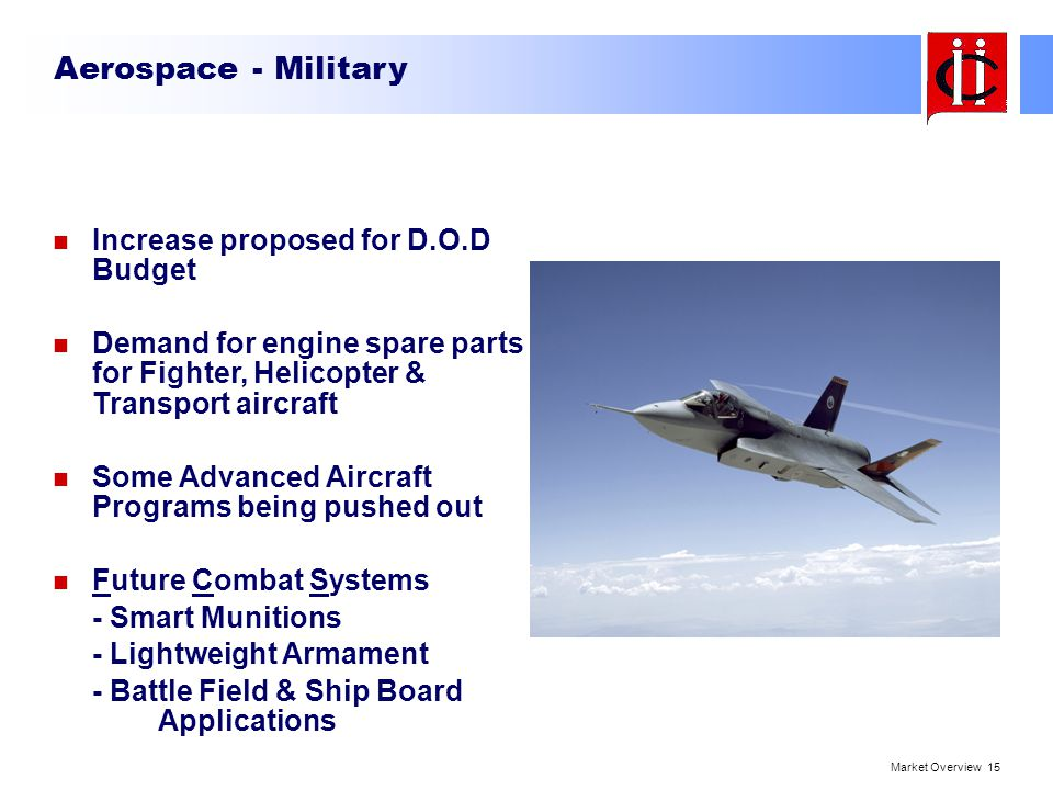 Aerospace - Military Increase proposed for D.O.D Budget
