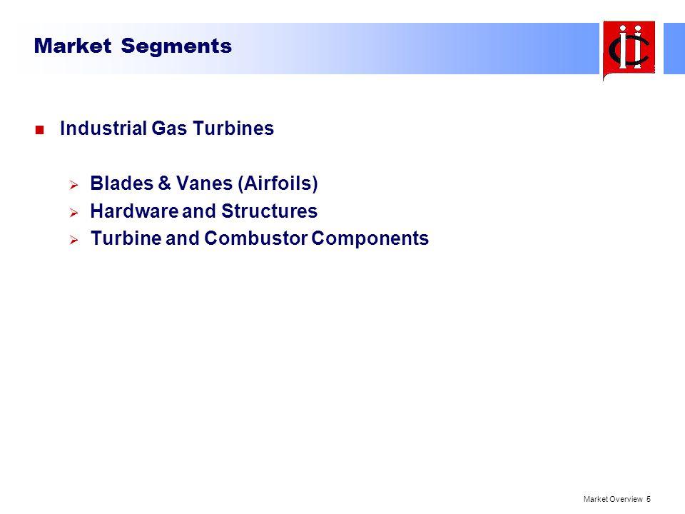 Market Segments Industrial Gas Turbines Blades & Vanes (Airfoils)