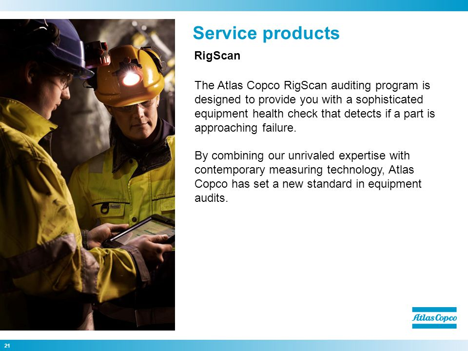 Service products RigScan