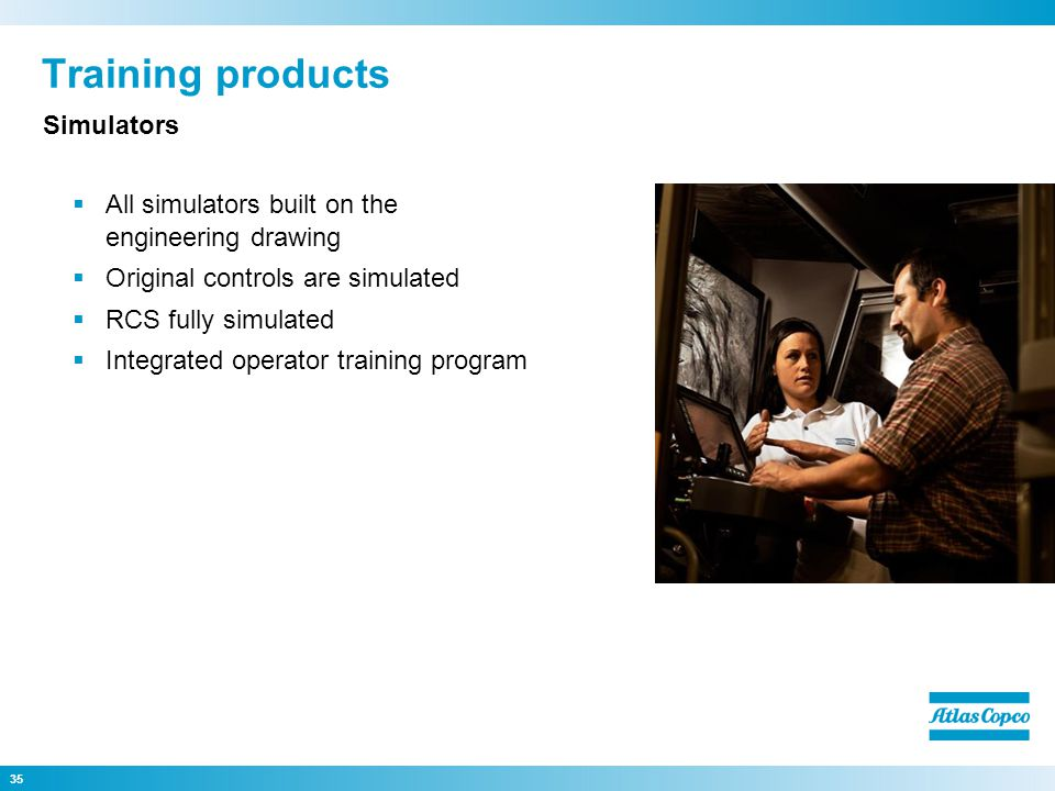 Training products Simulators