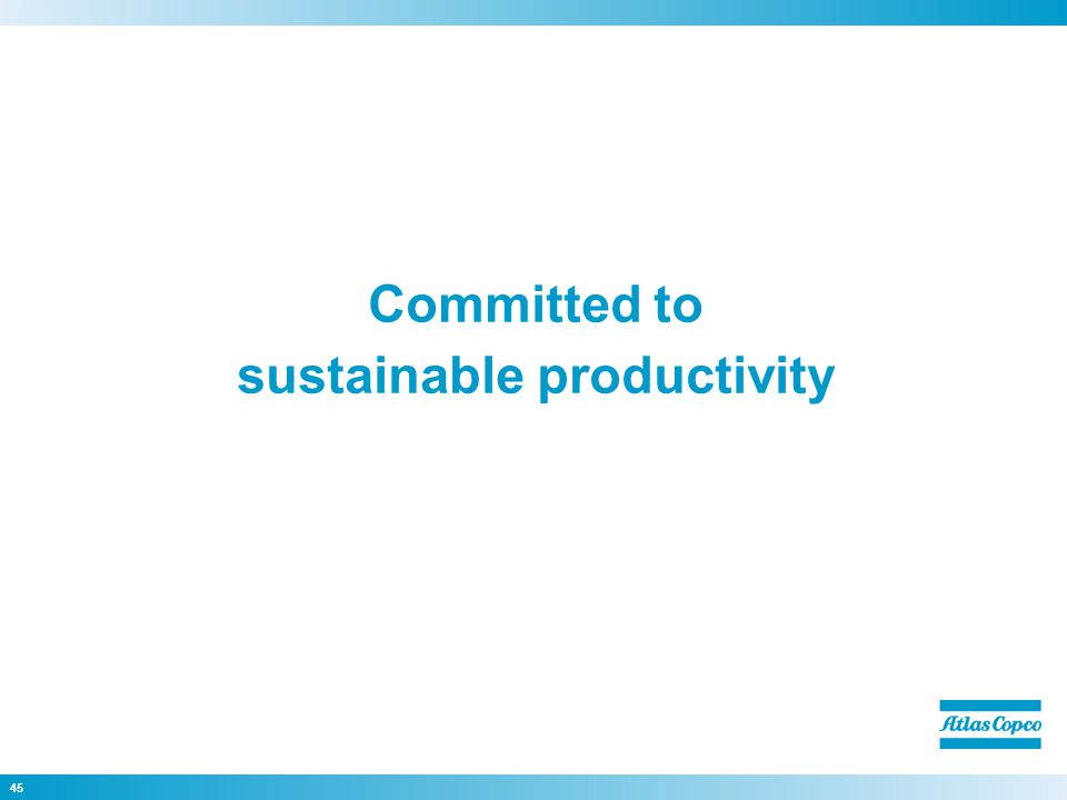 Committed to sustainable productivity