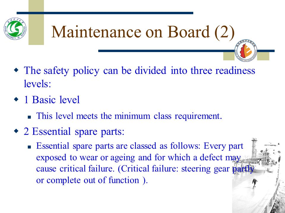 Maintenance on Board (2)