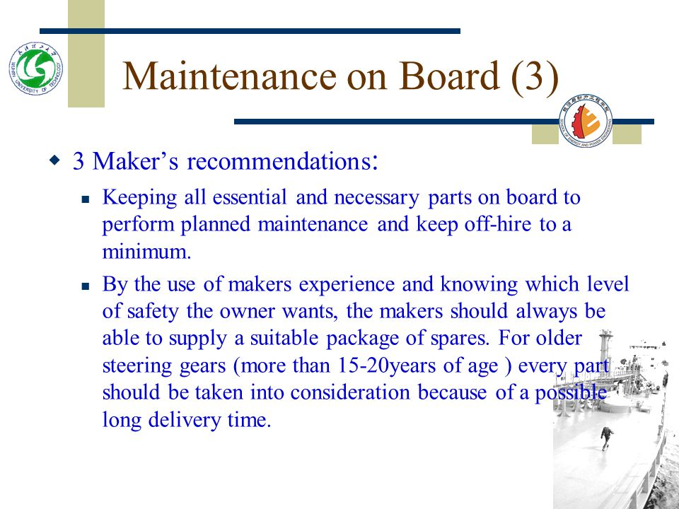 Maintenance on Board (3)