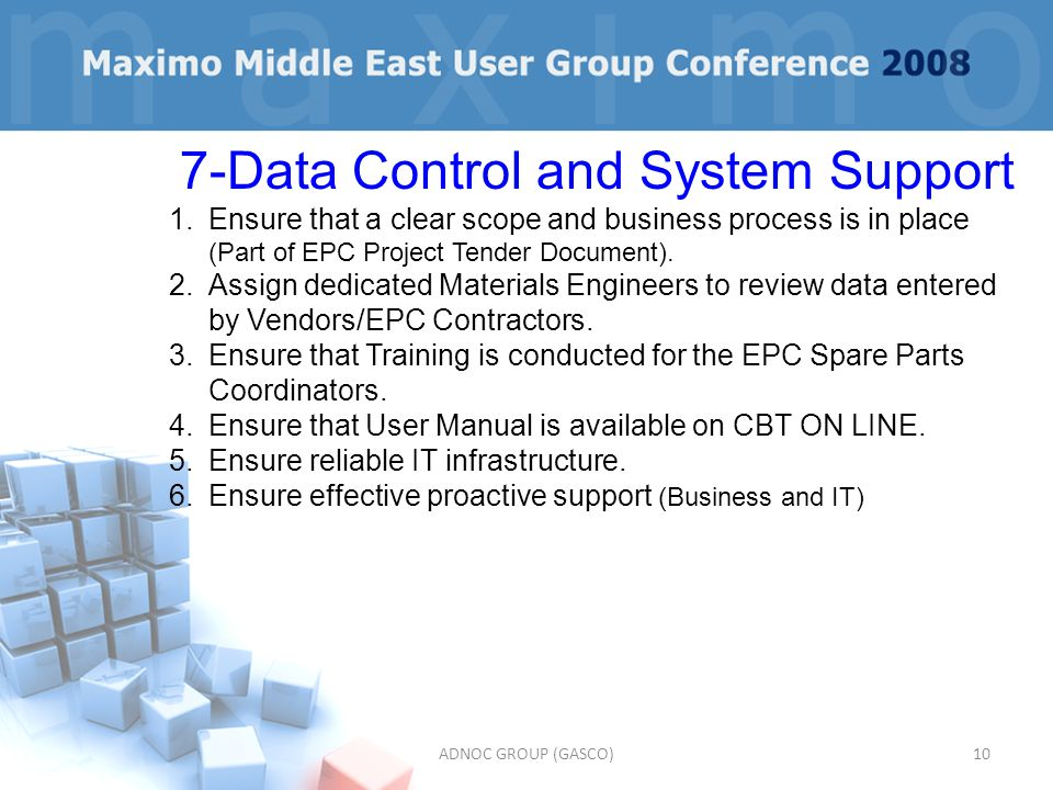 7-Data Control and System Support