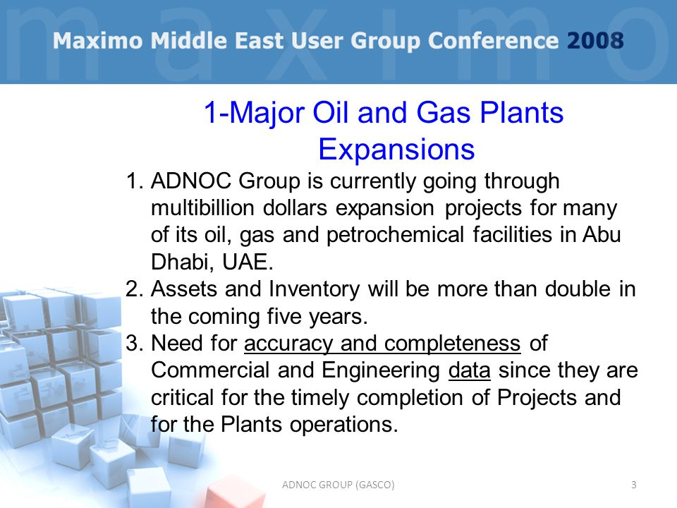 1-Major Oil and Gas Plants Expansions