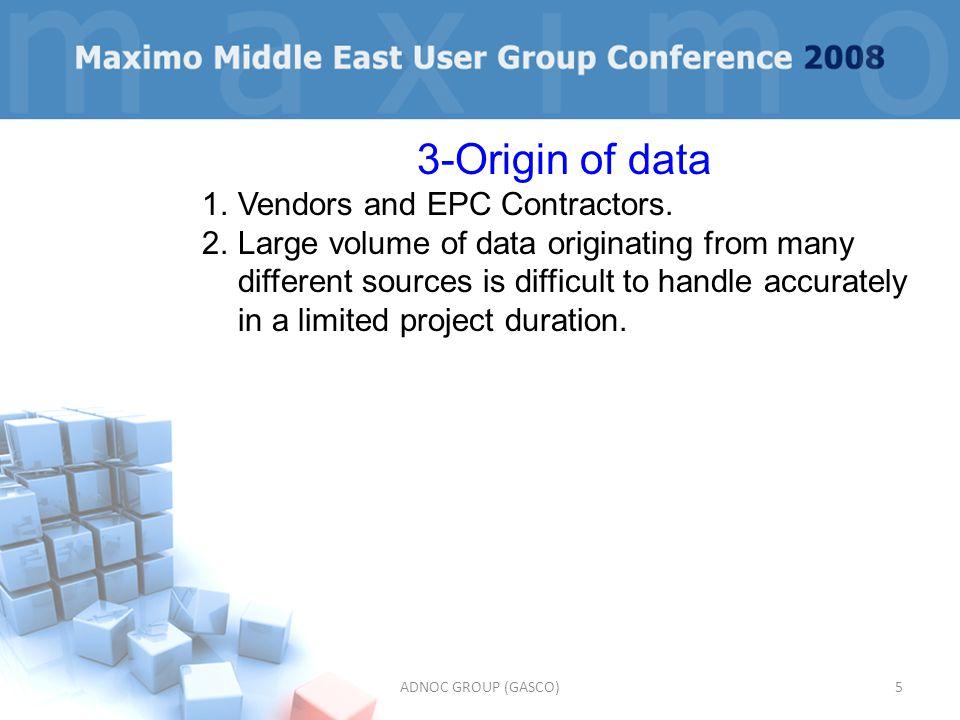 3-Origin of data Vendors and EPC Contractors.
