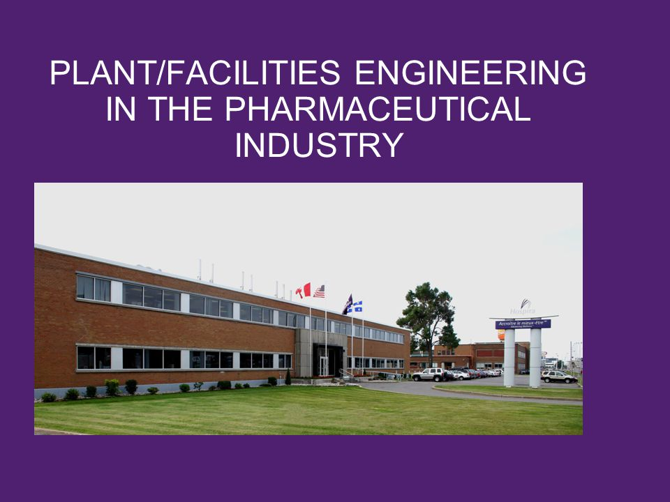 PLANT/FACILITIES ENGINEERING IN THE PHARMACEUTICAL INDUSTRY