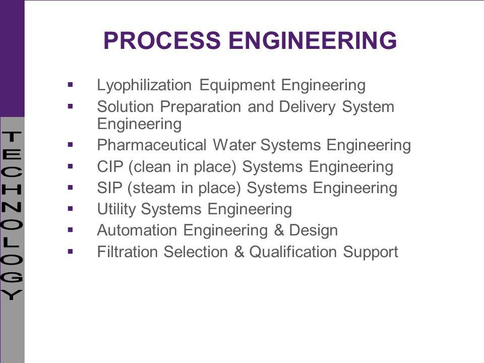 PROCESS ENGINEERING Lyophilization Equipment Engineering