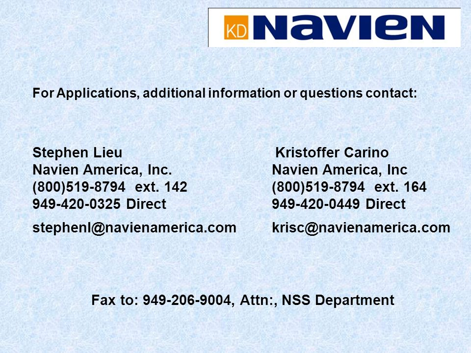 Fax to: 949-206-9004, Attn:, NSS Department